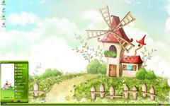 可爱的风车小屋xp主题