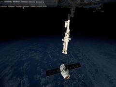 """外媒称SpaceX""""龙""""货运飞船已抵达国际空间站"""