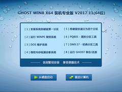 GHOST WIN8 X64 装机专业版 V2017.11(64位)