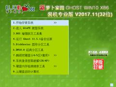 萝卜家园 GHOST WIN10 X86 装机专业版 V2017.11(32位)
