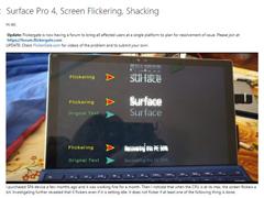 Surface Pro 4闪屏?微软将免费维修