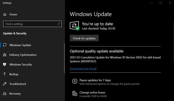 微软Win10 2004 KB5001567正式上线了!