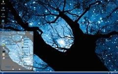 隐蓝大树xp主题