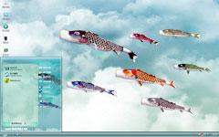 鲤鱼节xp电脑桌面主题