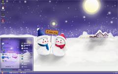 雪夜思念xp电脑主题