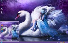 湖边天鹅美人xp系统主题