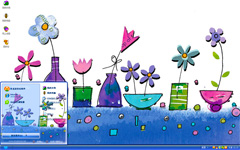 卡通花卉xp系统主题