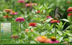 花园风景xp主题下载