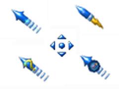藍色火箭頭鼠標指針