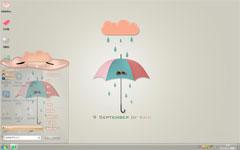 個性雨傘win7壁紙下載