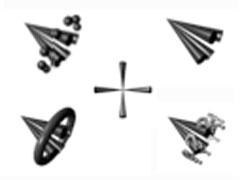 黑色甲殼鼠標指針