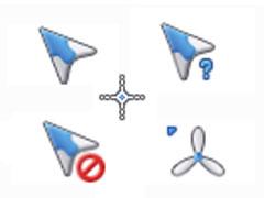 蓝白纸飞机鼠标指针