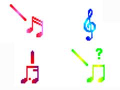 多彩音符鼠標指針