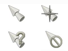 银白锥体鼠标指针
