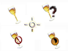 香檳美酒鼠標指針