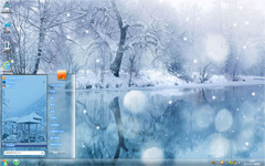 唯美雪景win7高清壁纸