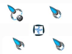 幽藍旋風鼠標指針