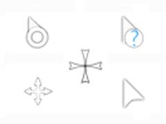 簡潔白色鼠標指針