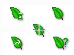 精美绿叶鼠标指针