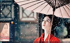 风中奇缘唯美莘月Win7主题
