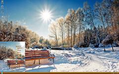 白色暖阳雪景xp主题