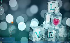 冰塊LOVE愛情Win7主題