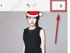 天天P图中怎么找到圣诞帽素材位置?天天P图中找到圣诞帽素材位置的方法