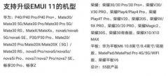 emui11更新名单有哪些?emui11更新名单详细介绍