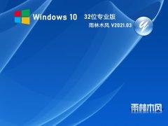雨林木风 GHOST WIN10 32位 纯净专业版 V2021.03
